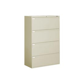 "Global™ 9300 Series 42""W 4 Drawer Binder Lateral File - Putty"