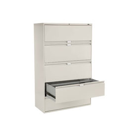 "Global™ 9300 Series 42""W 5 Drawer Binder Lateral File - Gray"