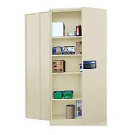 Sandusky Snapit Keyless Electronic Storage Cabinet KDE7824 Easy Assembly - 36x24x78, Putty