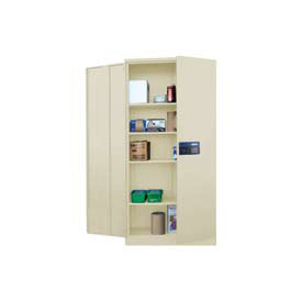 Sandusky Snapit Keyless Electronic Storage Cabinet KDE7848 Easy Assembly - 48x24x78, Putty