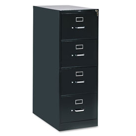 "28-1/2"" 4 Drawer Vertical File - Legal - Black"