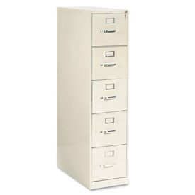 "28-1/2"" 5 Drawer Vertical File - Letter - Putty"