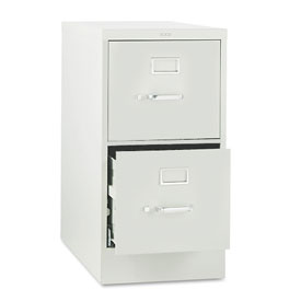 "HON® 25""D 2 Drawer Vertical File - Letter - Gray w/ Lock"