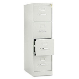 "HON® 25""D 4 Drawer Vertical File - Letter - Gray w/ Lock"