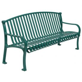 """60"""" Bench Curved Top Ribbed Style - Green"""