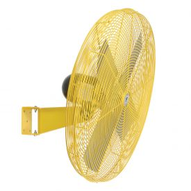 TPI 294546Y,24 Inch Wall Mount Fan Non Oscillating Yellow 1/2 HP 5600 CFM 1 PH TE Motor