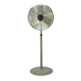 TPI CACU24P,24 Inch Pedestal Fan Non Oscillating 1/4 HP 3400 CFM 1 PH Totally Enclosed Motor