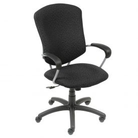 Global™ Supra High Back Executive Chair - Black Fabric Upholstery