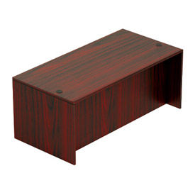 Offices To Go™ 71 Inch Rectangular Desk Shell in Mahogany - Executive Modular Furniture