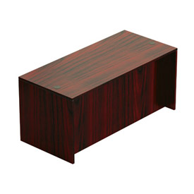 Offices To Go™ 66 Inch Rectangular Desk Shell in Mahogany - Executive Modular Furniture