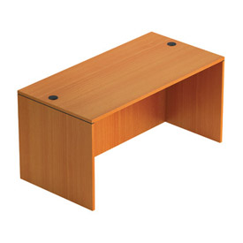 Offices To Go™ 60 Inch Rectangular Desk Shell in Medium Cherry - Executive Modular Furniture