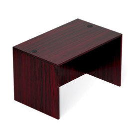 48 Inch Rectangular Desk Shell in Mahogany - Executive Modular Furniture