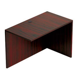 "Offices To Go™ Return Desk - 48""W x 24""D x 29-1/2""H - Mahogany"