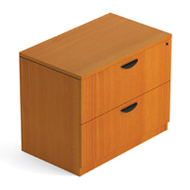 Two Drawer Lateral File in Medium Cherry - Executive Modular Furniture