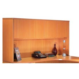 Offices To Go™ 66 Inch Overhead Hutch w/ Doors in Medium Cherry - Executive Modular Furniture