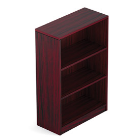 Offices To Go™ 2 Shelf Bookcase in Mahogany - Executive Modular Furniture