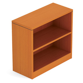 Offices To Go™ 1 Shelf Bookcase in Medium Cherry - Executive Modular Furniture