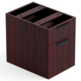 Offices To Go™ 2 Drawer Hanging Pedestal in Mahogany - Executive Modular Furniture