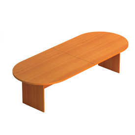 """Offices To Go™ 120"""" Racetrack Conference Table in Medium Cherry - Executive Modular Furniture"""
