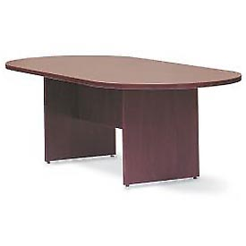 "Offices To Go™ 95"" Racetrack Conference Table in Mahogany - Executive Modular Furniture"
