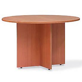 Offices To Go™ 48 Inch Round Conference Table in Medium Cherry - Executive Modular Furniture