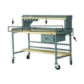 """60""""W X 30""""D Back & End Stops - Gray"""