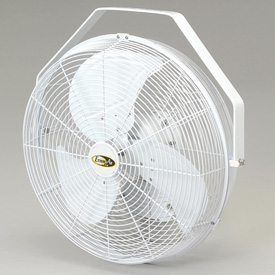 "J&D 18"" Fan With Wall Ceiling Bracket 1/8 HP 3120 CFM, White"