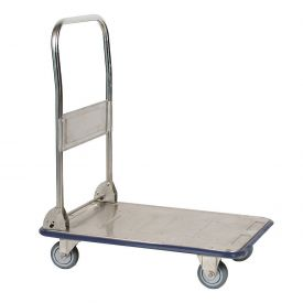 Wesco® Folding Stainless Steel Platform Truck 270457 29 x 19 440 Lb. Cap.