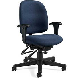 Global™ Multi-Tilter Office Chair - Fabric - Low Back - Blue - Granada Series