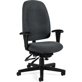 Global™ Multi-Tilter Office Chair - Fabric - High Back - Gray - Granada Series