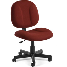 OFM Task Chair - Fabric - Mid Back -Burgundy