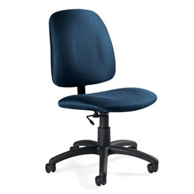 Global™ Armless Task Chair - Fabric - Low Back - Ocean - Goal Series