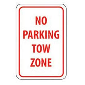Aluminum Sign -  No Parking Tow Zone - .063mm Thick
