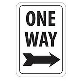 "Aluminum Sign -  One Way Right Arrow - .063"" Thick, TM23H"