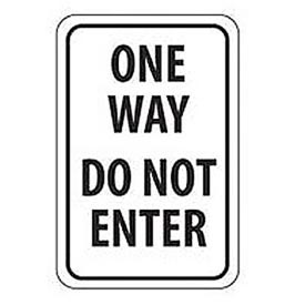 Reflective Aluminum Sign - One Way Do Not Enter  - .080mm Thick