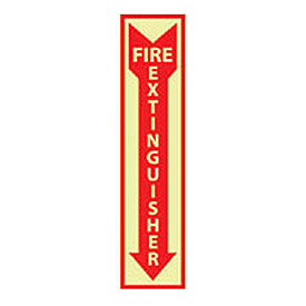 Fire Extinguisher Sign - Vertical - Vinyl Glow