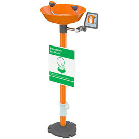 Guardian Equipment Emergency Eye Wash Pedestal Mounted - Plastic Bowl, G1825P