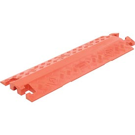 "1-Channel General Purpose Drop Over Cable Guard, 36""L x 11-1/2"" x 1-5/8""H, Orange"