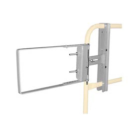 """Spring-Loaded Safety Gate 24""""- 40""""W Opening Galvanized"""