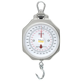 "Hanging Scale 540 x 2lb / 250 x 1kg 7-1/2"" Dial With Hook"