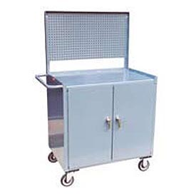 Cabinet with Pegboard Mobile Service Bench 36 x 24 x 60