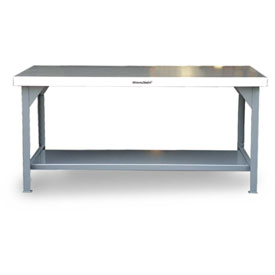 Strong Hold 60 X 36 Stainless Steel Top Fixed Leg Work Table