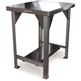 Strong Hold 48 X 30 Stainless Steel Unit Fixed Leg Work Table
