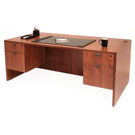 60 Inch Desk with Hanging Peds in Cherry - Manager Series