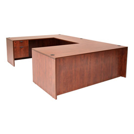 66 Inch U Shape Workstation in Cherry - Manager Series