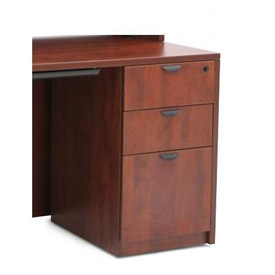 3 Drawer Pedestal in Cherry - Manager Series
