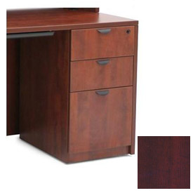 Regency 3 Drawer Pedestal in Mahogany - Manager Series