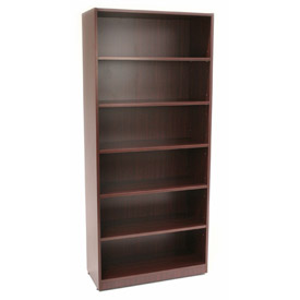 72 Inch Bookcase in Mahogany - Manager Series