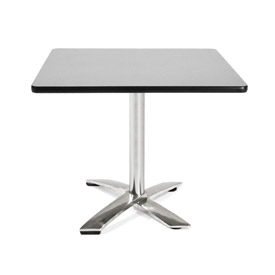 """36"""" Square Flip Top Table Gray"""