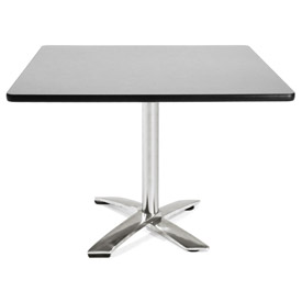 "OFM 42"" Lunchroom Table - Square - Flip Top - Gray"